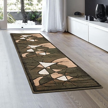 Ebern Designs Schaefer Swirl Sage Green Area Rug; 5'2'' x 7'2''