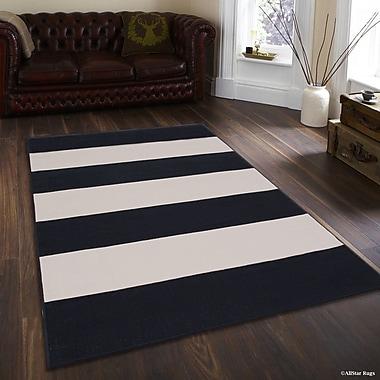 Ebern Designs Mckinney Black Indoor/Outdoor Area Rug; 5' x 7'