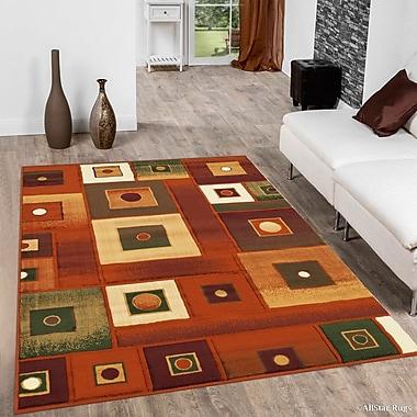 Ebern Designs Fuller Rust Area Rug; 7'10'' x 10'2''