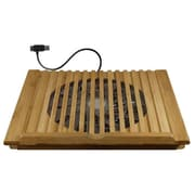 Macally ECOFANPRO2 Bamboo Cooling Stand for Laptop