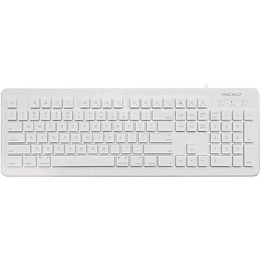Macally MKEYX 104 Key USB Keyboard for Mac and PC