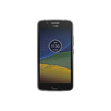 Moto – Téléphone intelligent déverrouillé G5, 5 po, 16 Go, Snapdragon 430 1,4 GHz, Android 7.0 Nougat, gris (PA5X0042CA)
