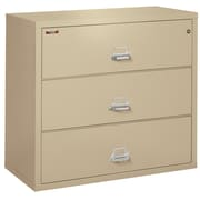 "Fire King Lateral 3 Drawer 44"" Fireproof File Cabinet - Parchment, Includes White Glove Delivery (3-4422-CPAI)"