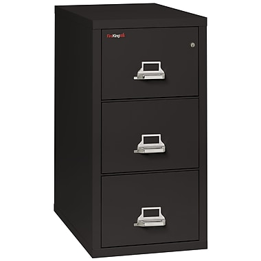 Fire King Vertical 3 Drawer Legal Fireproof File Cabinet - Black, Includes White Glove Delivery (3-3121-CBLI)