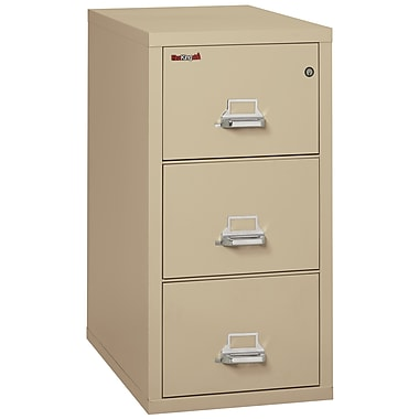 Fire King Vertical 3 Drawer Legal Fireproof File Cabinet - Parchment, Includes White Glove Delivery (3-3121-CPAI)