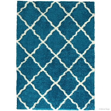 Harriet Bee Abbey Turquoise Area Rug; 7'9'' x 10'