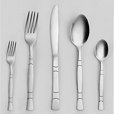 Mint Pantry Fulvia Stainless 5 Piece Flatware Set (Set of 4)