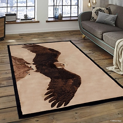 Loon Peak Lacour High Quality Woven Ultra-Soft Eagle Berber Area Rug; 5'2'' x 7'2''
