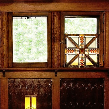 Loon Peak Stained Glass Southwestern Mission Style Window Panel