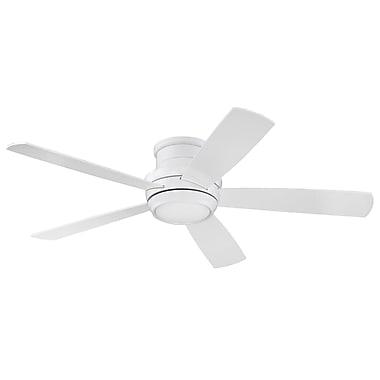 Latitude Run 52'' Cedarton Hugger 5 Blade Fan w/ Remote; White