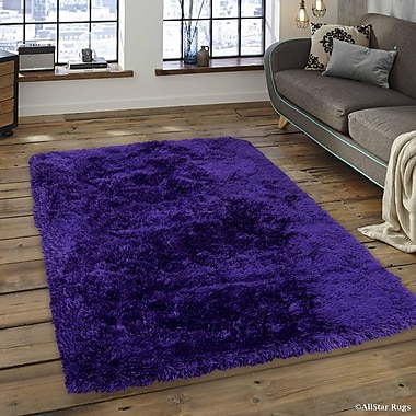 Latitude Run Keaney Purple Area Rug; 7'6'' x 10'2''