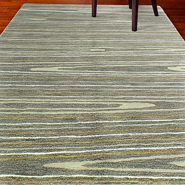 Latitude Run Kelson Hand-Tufted Gray Area Rug; 6' x 9'