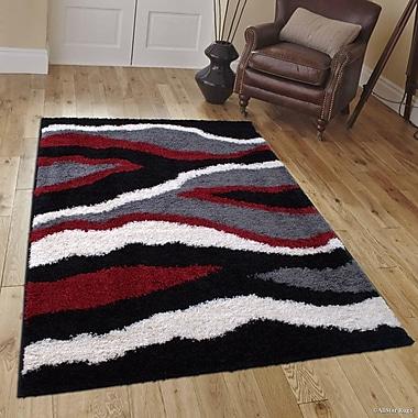 Orren Ellis Humphrey Red Area Rug; 5' x 7'
