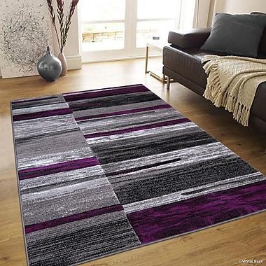 Orren Ellis Ingram High-Quality Purple Area Rug; 7'10'' x 10'