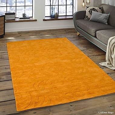 Red Barrel Studio Alicia Ultra-Soft High-Quality Wool Bold Designed Mango Area Rug; 4'11'' x 7'