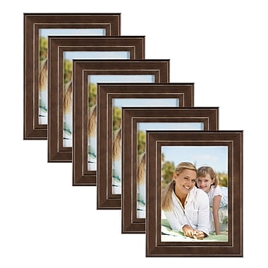 Red Barrel Studio Espresso Brown Solid Wood Picture Frame (Set of 6); 7'' x 5''