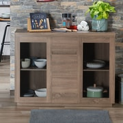 Gracie Oaks Lakeasha Contemporary Buffet Table; Chestnut Brown