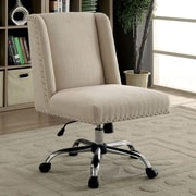 Ivy Bronx Corktown Contemporary Office Mid-Back Desk Chair; Ivory