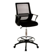 Latitude Run Topton Contemporary Office Mid-Back Mesh Drafting Chair; Black