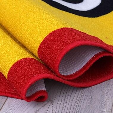 Zoomie Kids Nino Yellow/Green Area Rug; 4'11'' x 6'11''