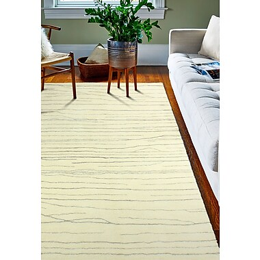 Union Rustic Jaqueline Hand-Tufted Ivory/Gray Area Rug; 5' x 8'