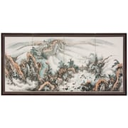 World Menagerie 36'' x 72'' Christiane Mountaintop 4 Panel Room Divider