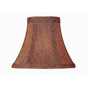 Winston Porter 6'' Brown Fabric Bell Candelabra Shade