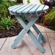 August Grove Mallory Side Table; Dutch Blue
