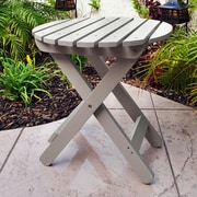 August Grove Mallory Side Table; Taupe Gray