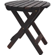 August Grove Mallory Side Table; Burnt Brown