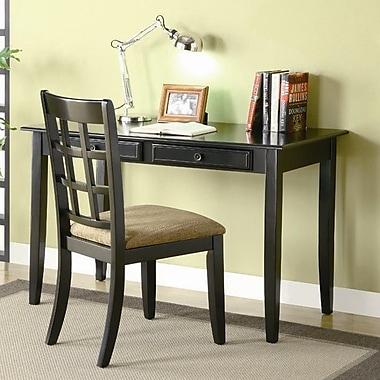 Bay Isle Home Eanes Writing Desk and Chair Set; Black