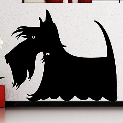 Decal House Scottie Dog Wall Decal; Black