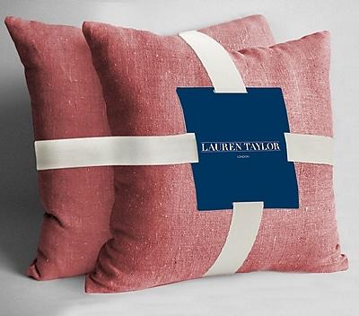 Maison Condelle Lauren Taylor Throw Pillow (Set of 2); Coral