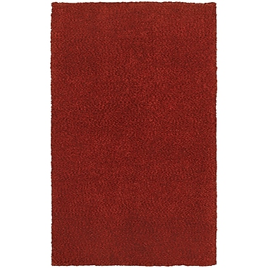 Red Barrel Studio Toronto Hand-Tufted Red Area Rug; 8' x 11'
