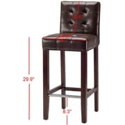 Red Barrel Studio Beasley 30'' Bar Stool; Brown