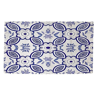 Red Barrel Studio Atherstone 1 Blue/White Area Rug; 4' x 6'
