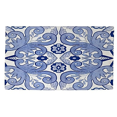 Red Barrel Studio Atherstone 4 Blue/White Area Rug; 2' x 3'