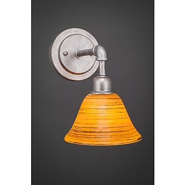 Williston Forge Kash 1-Light Amber Wall Sconce; Aged Silver