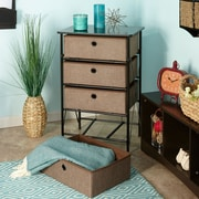 Rebrilliant Sort and Store Organizer 4 Drawer Chest; Brown