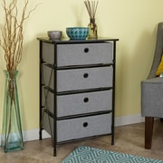 Rebrilliant Sort and Store Organizer 4 Drawer Chest; Gray