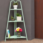 Royal Garden Marcel 3 Tier Corner Metal Shelving Unit; Green