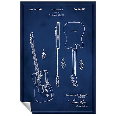 Successories Fender Guitar Patent Wall Decal; 48'' H x 32'' W