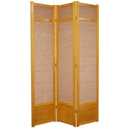 World Menagerie 83.5'' x 43'' Clarke Shoji 3 Panel Room Divider; Honey
