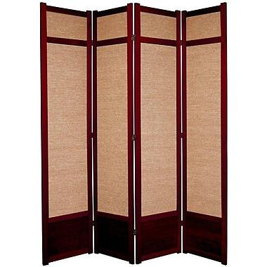 World Menagerie 83.5'' x 57'' Clarke Shoji 4 Panel Room Divider; Rosewood