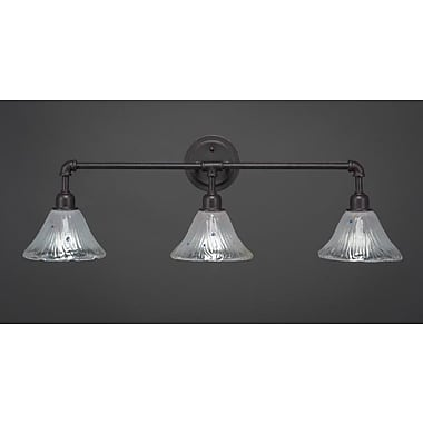 Williston Forge Kash 3-Light Bell Shape Vanity Light; Dark granite