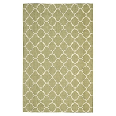 Winston Porter Short Sage Green / Beige Indoor/Outdoor Rug; 8' x 11'2''