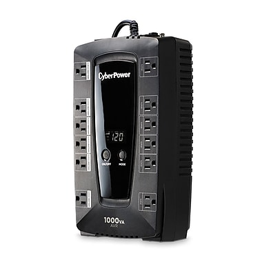 CyberPower 12-Outlet + 2-USB UPS Battery Back-Up, 530W (LE1000DG-FC)