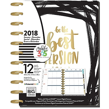 The Happy Planner® 2018 Big 12 Month Planner, Fearless (PLNB-16)