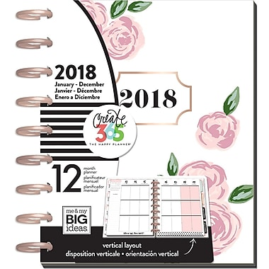 The Happy Planner® 2018 Classic 12 Month Planner, Rosy (PLNY-33)