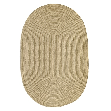 Winston Porter Mcintyre Linen Outdoor Area Rug; Oval 2' x 4'